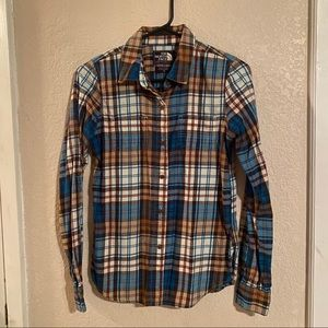 The North Face Womens XS Plaid Flannel Shirt